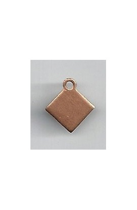 Pendant, diamond 1/2 X 9/16 inch - ( Pack of 10 ) Copper Ref: 1010