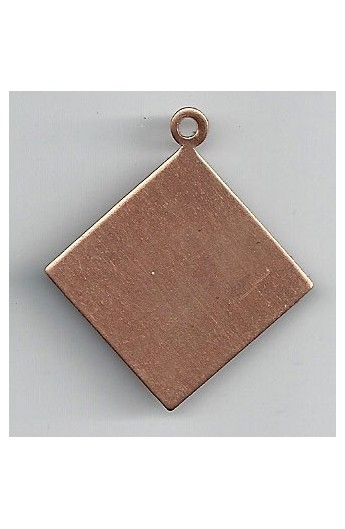 Pendant, diamond 1 7/16 X 1 9/16 inch - ( Pack of 5 ) Copper Ref: 1011