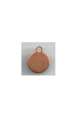 Pendant, Disc 3/8 X 1/2 inch - ( Pack of 10 ) Copper Ref: 1014