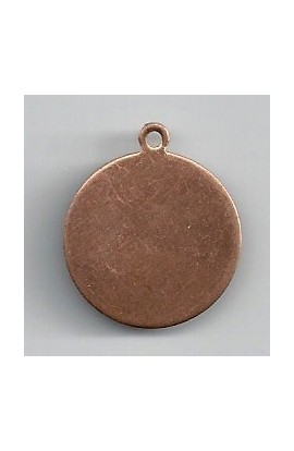 Pendant, Disc 7/8 X 1 inch - ( Pack of 10 ) Copper Ref: 1015