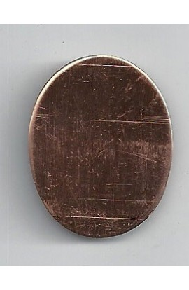 Oval 1 1/16 X 1 3/8 inch - ( Pack of 10 ) Copper Ref: 1023