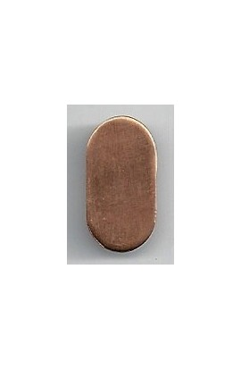 Oval 3/8 X 13/16 inch - ( Pack of 10 ) Copper Ref: 1025