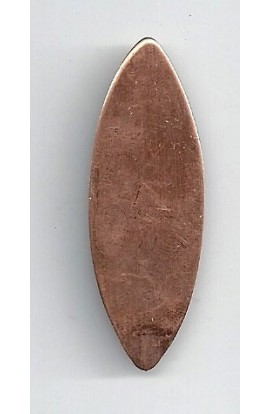 Oval 11/16 X 1 15/16 inch - ( Pack of 10 ) Copper Ref: 1033