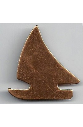 Sailboat 1 3/8 X 1 3/8 inch - ( Pack of 10 ) Copper Ref: 1034