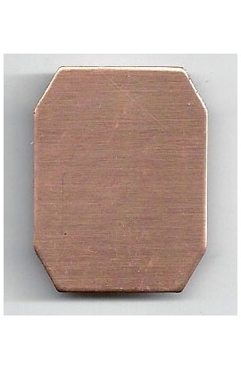 Octagon 1 X 1 5/16 inch - ( Pack of 10 ) Copper Ref: 1039