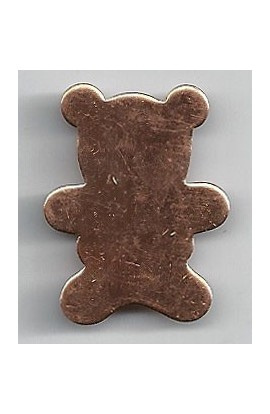 Teddy bear 15/16 X 1 3/16 inch - ( Pack of 10 ) Copper Ref: 1044