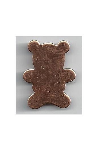 Teddy bear 15/16 X 1 3/16 inch - ( Pack of 10 ) Copper Ref: 1044
