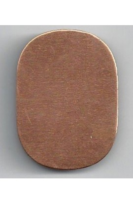 Rectangle 1 1/16 X 1 1/2 inch - ( Pack of 10 ) Copper Ref: 1046