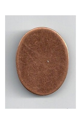 Oval 7/8 X 1 1/8 inch - ( Pack of 10 ) Copper Ref: 1048