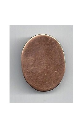 Oval 3/4 X 1 inch - ( Pack of 10 ) Copper Ref: 1049