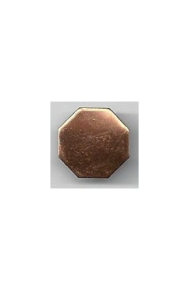 Octagon 1/2 X 1/2 inch - ( Pack of 10 ) Copper Ref: 1068