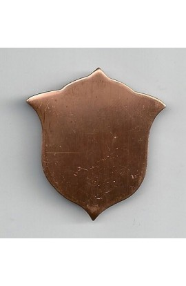 Badge 1 1/2 X 1 5/8 inch - ( Pack of 10 ) Copper Ref: 1069