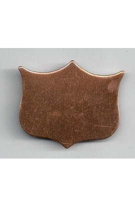 Badge 1 9/16 X 1 5/16 inch - ( Pack of 10 ) Copper Ref: 1070