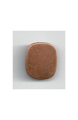 Rectangle 9/16 X 11/16 inch - ( Pack of 10 ) Copper Ref: 1071