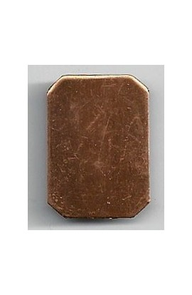 Rectangle 3/4 X 1 inch - ( Pack of 10 ) Copper Ref: 1072