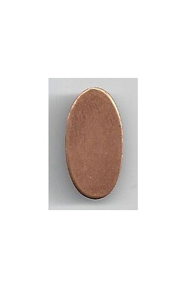 Oval 5/16 X 13/16 inch - ( Pack of 10 ) Copper Ref: 1078