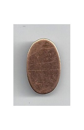 Oval 9/16 X 15/16 inch - ( Pack of 10 ) Copper Ref: 1079