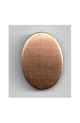 Oval, domed 3/4 X 1 inch - ( Pack of 10 ) Copper Ref: 1081