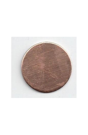 Disc Ø 1 inch - ( Pack of 10 ) Copper Ref: 303
