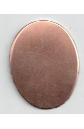 Oval, domed 1 1/4 X 1 9/16 inch - ( Pack of 10 ) Copper Ref: 1082