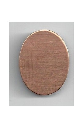Oval 7/8 X 1 1/8 inch - ( Pack of 10 ) Copper Ref: 1084