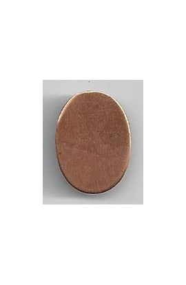 Oval 9/16 X 3/4 inch - ( Pack of 10 ) Copper Ref: 1099