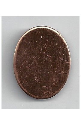 Oval 1 X 1 1/4 inch - ( Pack of 10 ) Copper Ref: 1100