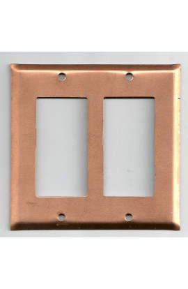 Electric plate, 2 decora 4 1/2 X 4 3/8 inch - ( Pack of 1 ) Copper Ref: 1101