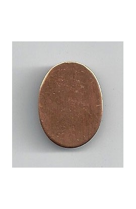Oval 11/16 X 7/8 inch - ( Pack of 10 ) Copper Ref: 1102