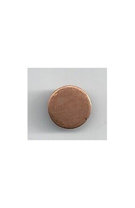 Disc Ø 7/16 inch - ( Pack of 10 ) Copper Ref: 1201