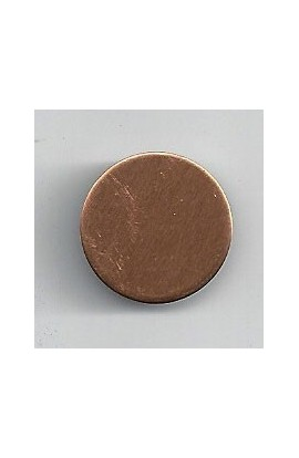 Disc Ø 11/16 inch - ( Pack of 10 ) Copper Ref: 1203