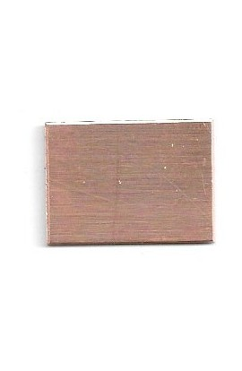 Rectangle 15/16 X 11/16 inch - ( Pack of 10 ) Copper Ref: 1209