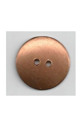 Button, domed Ø 7/8 inch - ( Pack of 10 ) Copper Ref: 1236